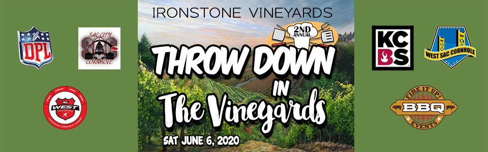 THROW DOWN IN THE VINEYARD 2020 wufoo banner